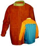 Veste soudeur cuir croute ou fleur face avant et coton proban à l'arrière